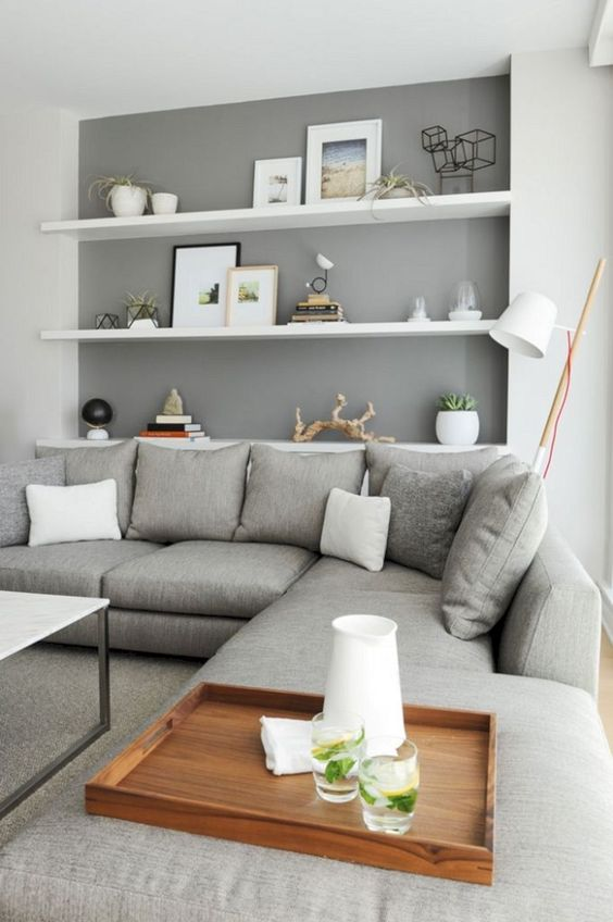 Living Room Shelves Ideas 17