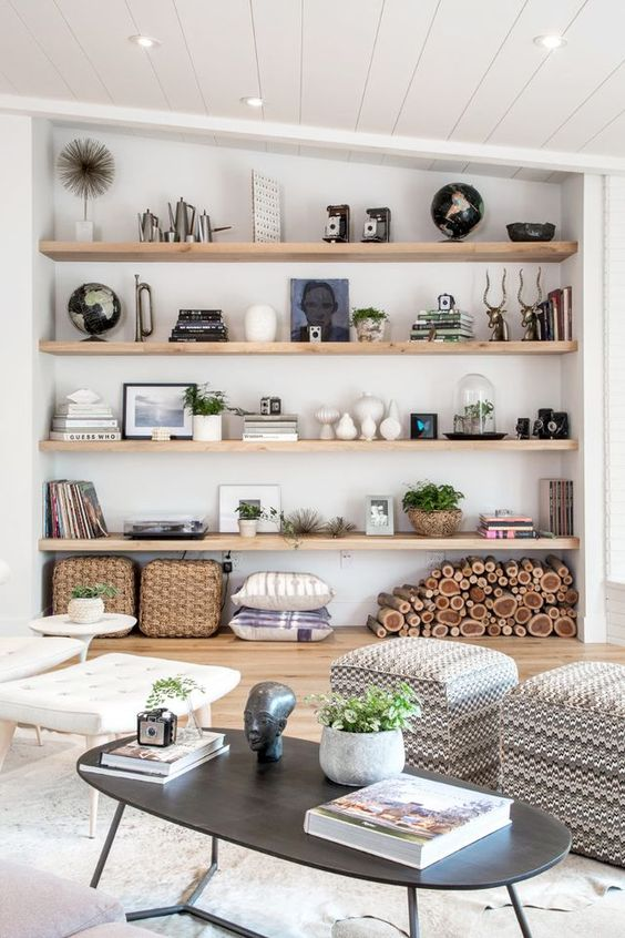 Living Room Shelves Ideas: Chic Big Shelves