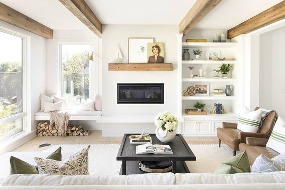 Living Room Shelves Ideas