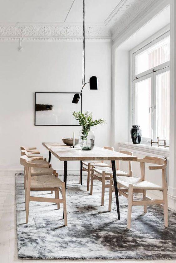 Minimalist Dining Room Ideas 19