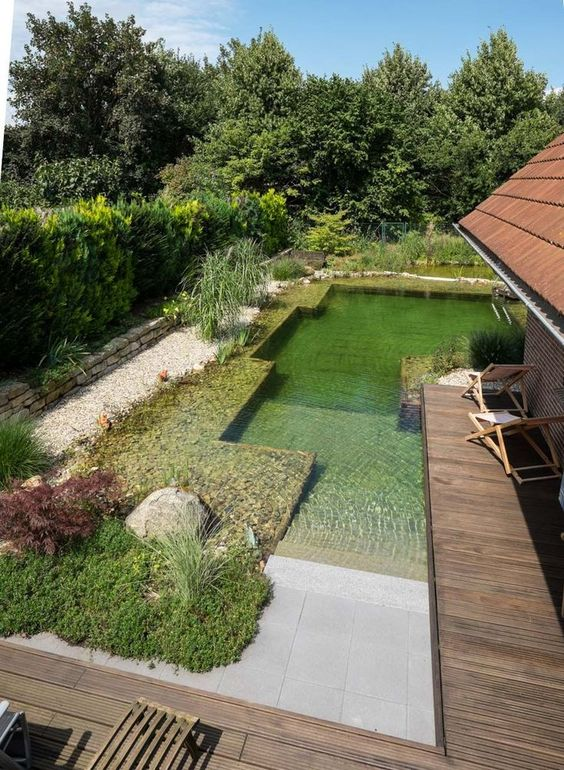 Natural Swimming Pool Ideas: Natural Beach Entry