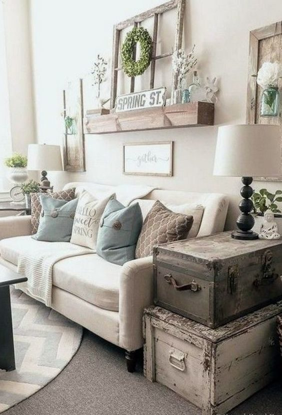 Rustic Living Room Ideas: Lovely Rustic Vintage