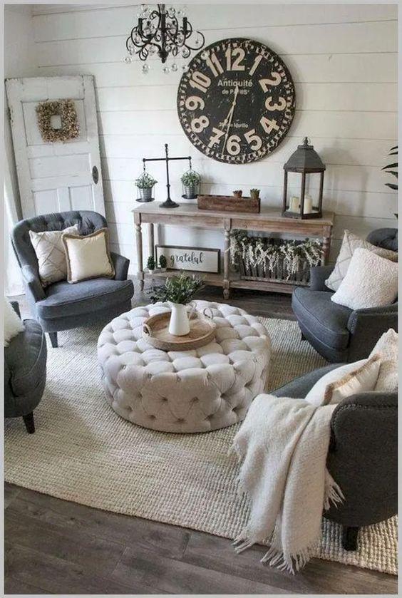 Rustic Living Room Ideas: Elegant Monochromatic