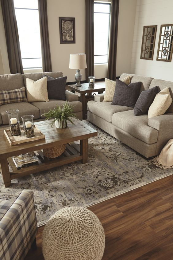 Rustic Living Room Ideas: Simple Earthy Shade
