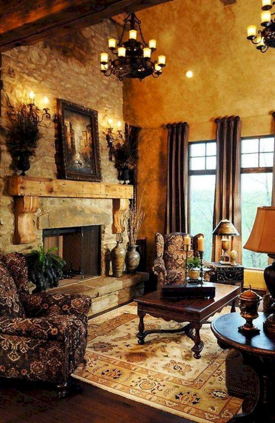 Rustic Living Room Ideas: Classic French Vibe
