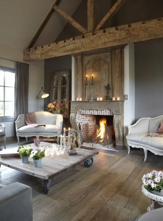 Rustic Living Room Ideas: Stunning Wood Elements