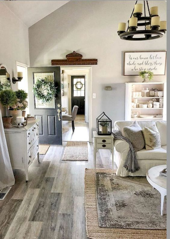 Rustic Living Room Ideas: Cool White Nuance
