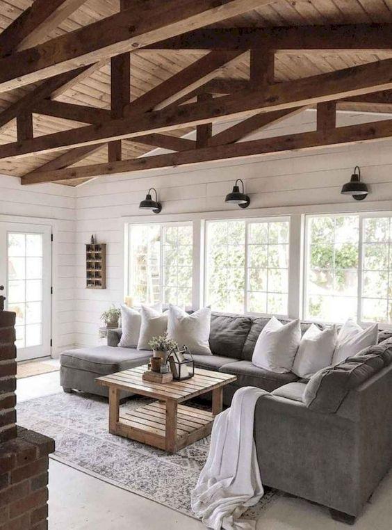 Rustic Living Room Ideas: Modern Rustic Design