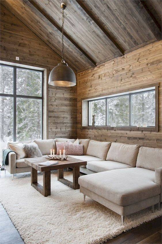 Rustic Living Room Ideas: Warm Wood Atmosphere