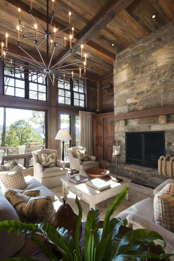 Rustic Living Room Ideas: Breathtaking Natural Touch