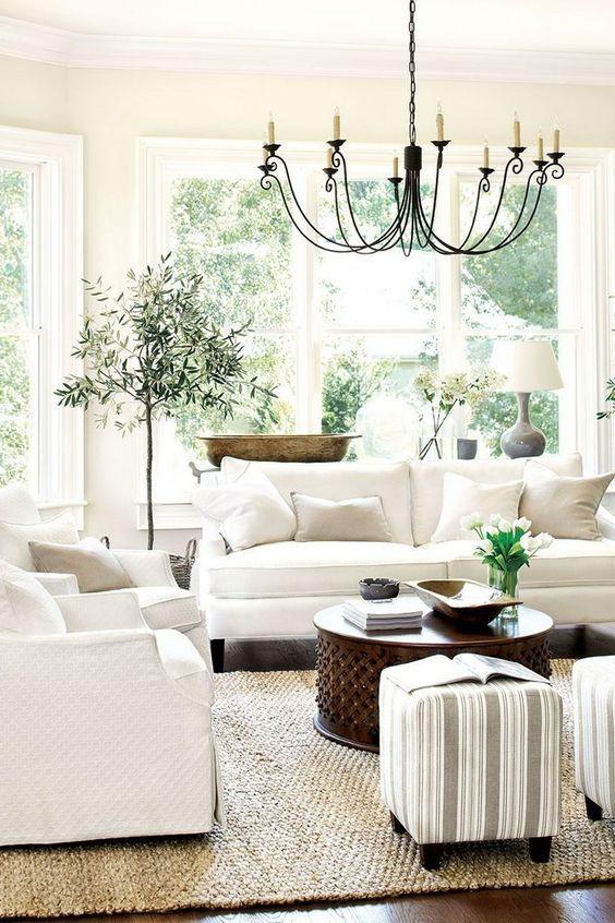 White Living Room Ideas 13