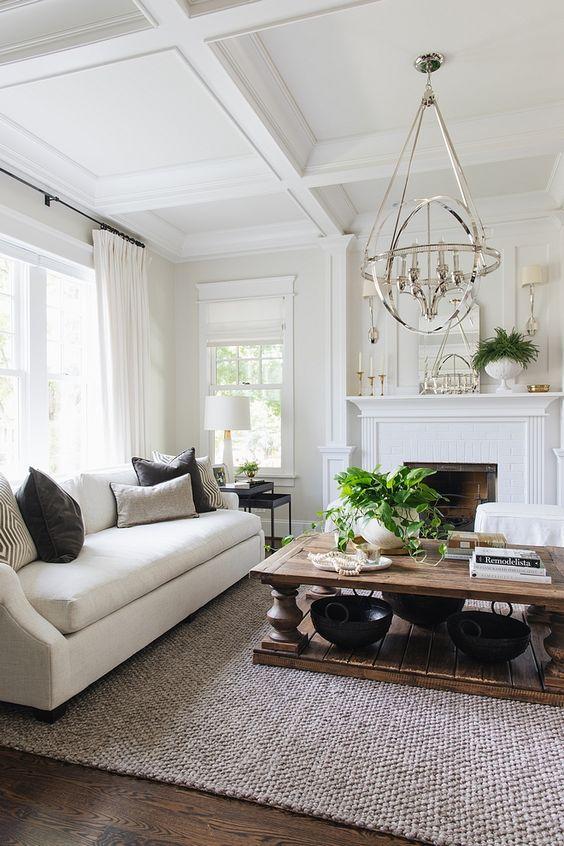 White Living Room Ideas 19