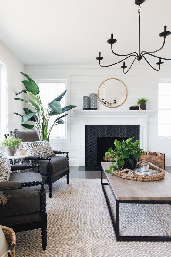White Living Room Ideas: Fresh Tropical Touch
