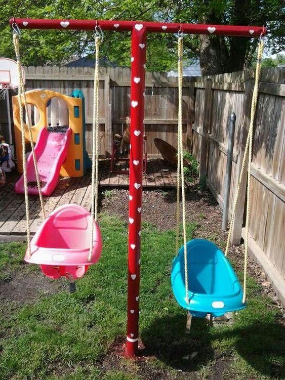 Backyard for Kids Ideas: Simple Swings Play