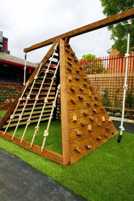 Backyard for Kids Ideas: Stunning Wall Climbing