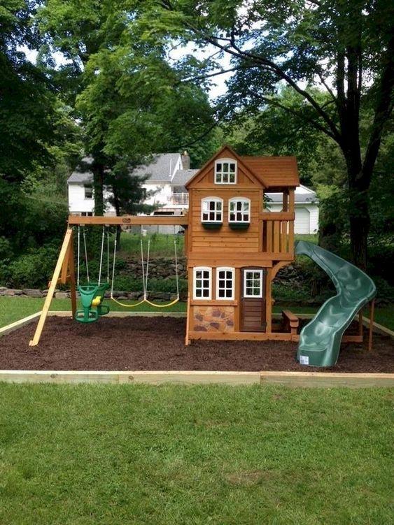 Backyard for Kids Ideas: Creative Wooden Castle