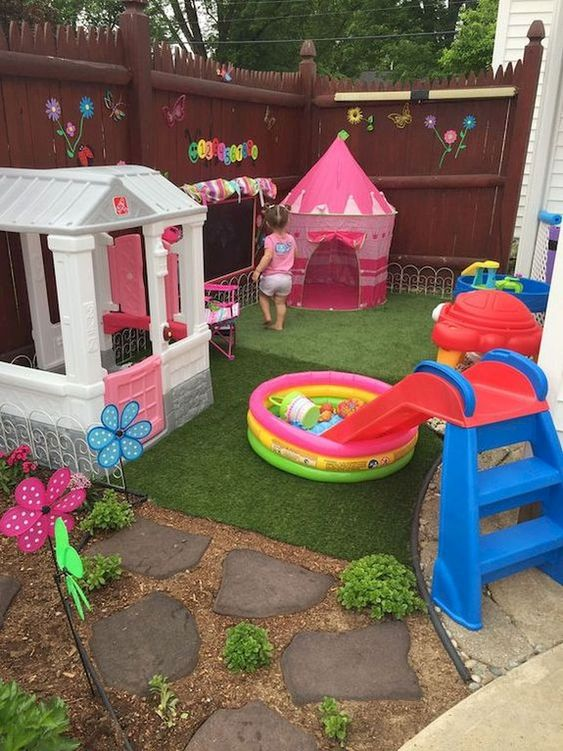 Backyard for Kids Ideas: Decorative Small Playground