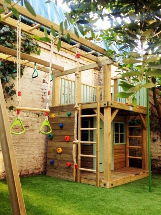 Backyard for Kids Ideas: Challenging Tree House