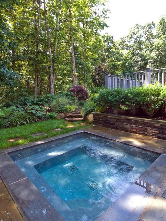 Backyard Hot Tub Ideas: Simple Inground Tub