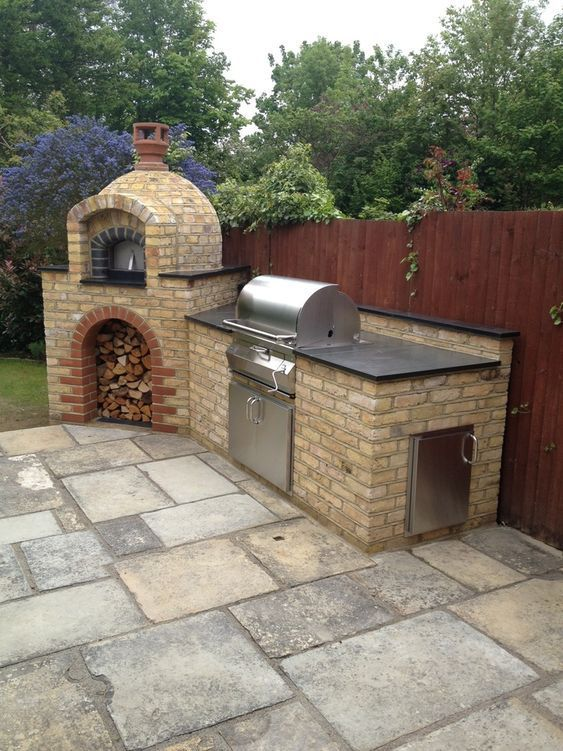 Backyard Kitchen Ideas: Minimalist Brick Kitchen