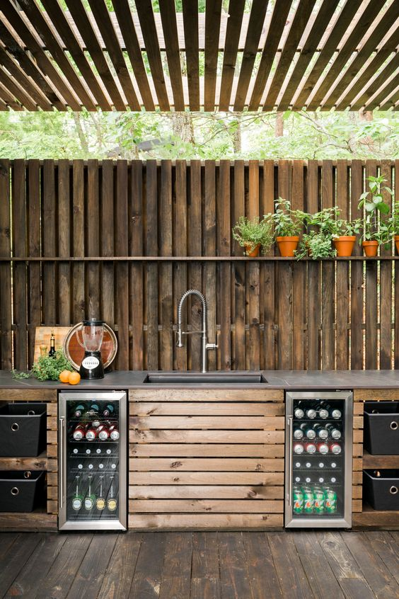 Backyard Kitchen Ideas: Fresh Natural Decor