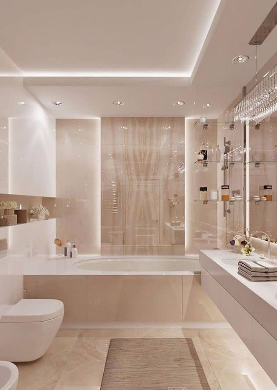 Bathroom Bathtub Ideas: Elegant Drop-In Bathtub