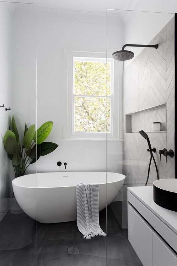 Bathroom Bathtub Ideas: Modern Freestanding Tub