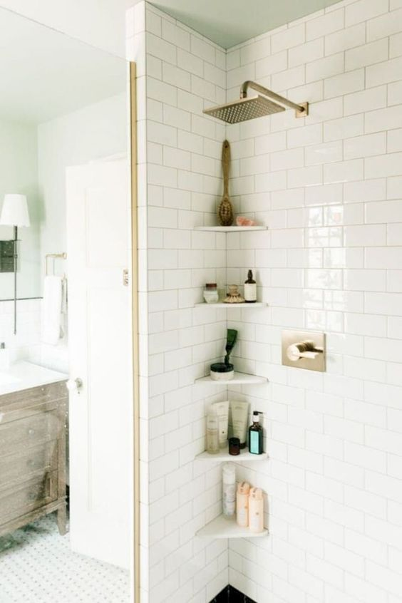 Bathroom Storage Ideas: Simple Corner Storage