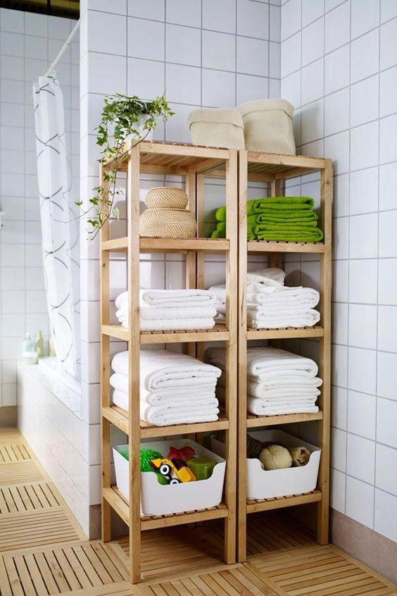 Bathroom Storage Ideas: Minimalist Open Shelves