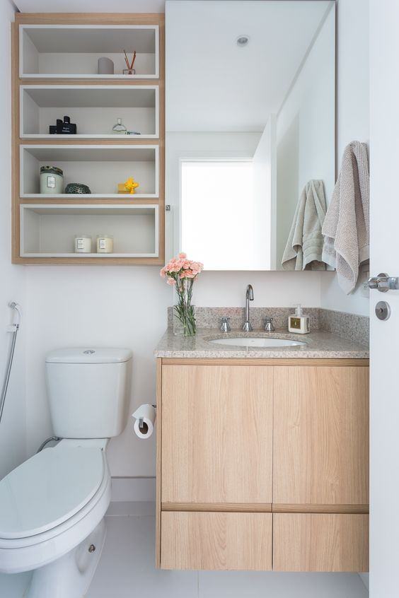 Bathroom Storage Ideas: Warm Scandinavian Nuance