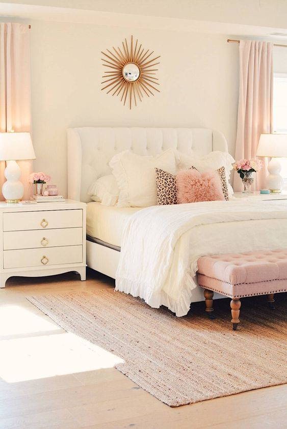 Bedroom Furniture Ideas: Lovely Pastel Pink