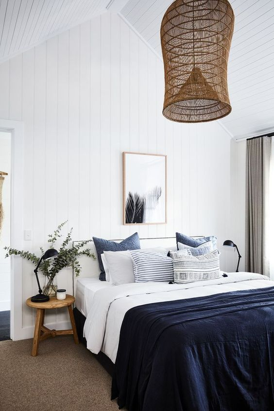 Bedroom Furniture Ideas: Minimalist Navy Bedroom