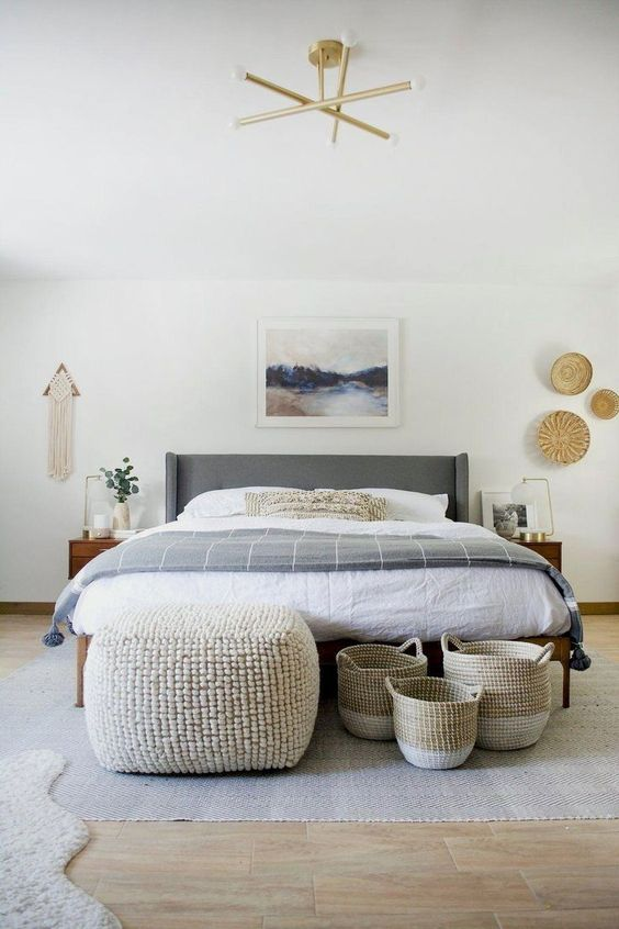 Bedroom Furniture Ideas: Calming Scandinavian Look