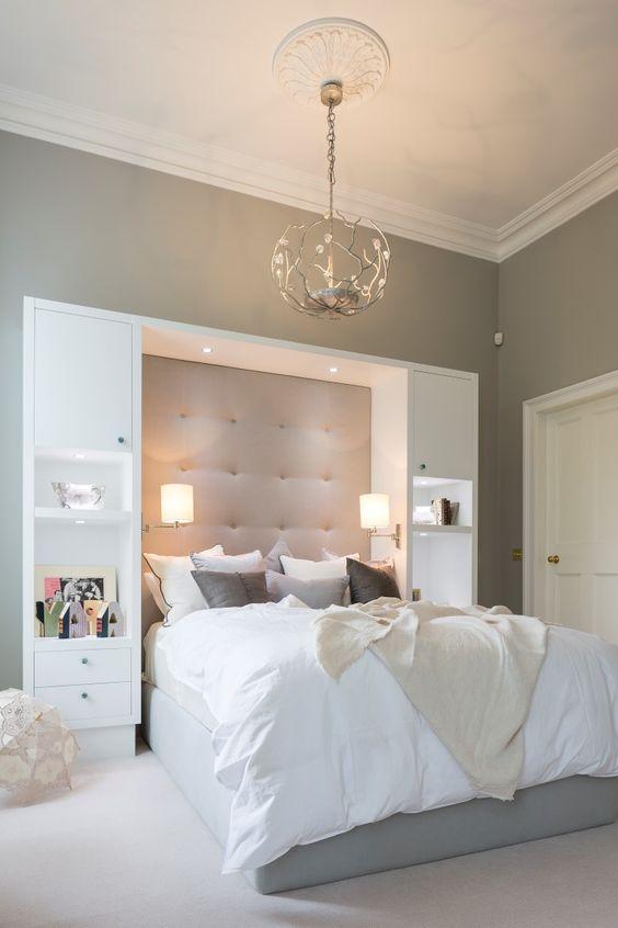 Bedroom Organization Ideas: Stunning Simple Headboard