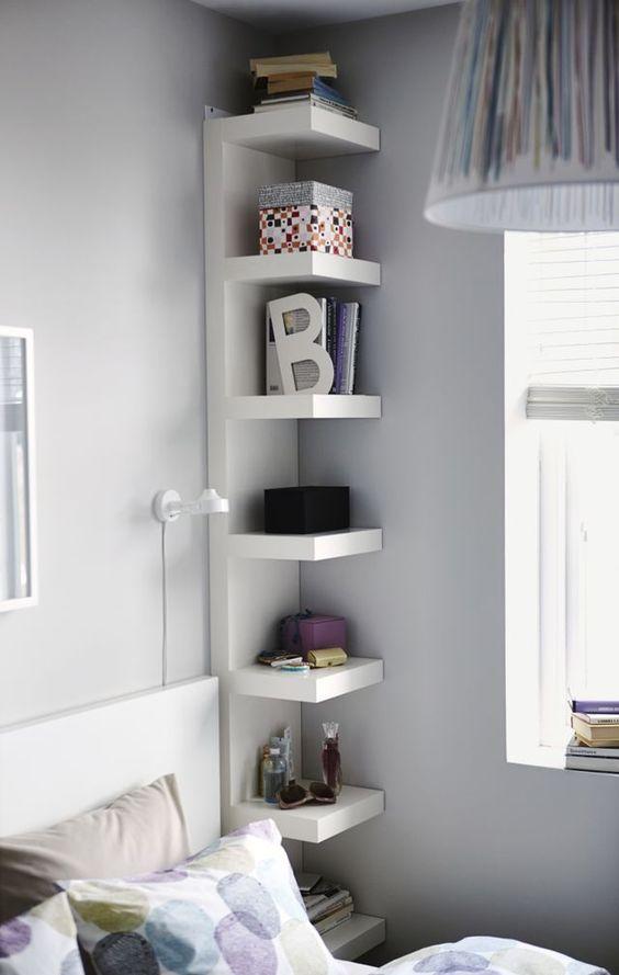 Bedroom Organization Ideas: Creative Bed Corner
