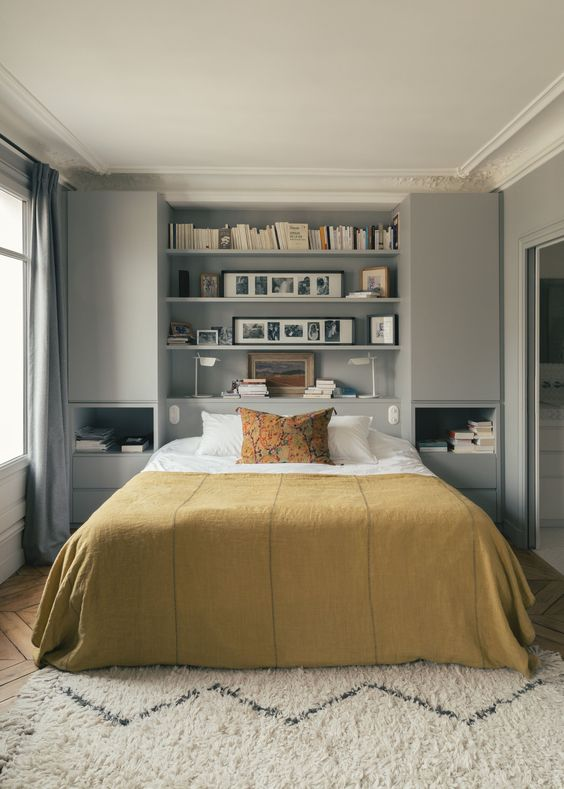 Bedroom Organization Ideas: Stylish Grey Cupboard