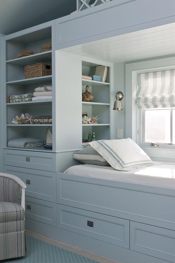 Bedroom Organization Ideas: Fresh Coastal Look