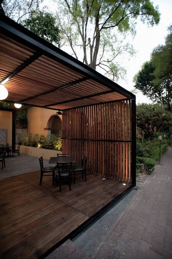 Covered Patio Ideas: Wooden Patio Cover