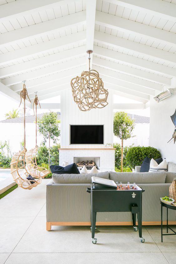Covered Patio Ideas: Elegant Backyard