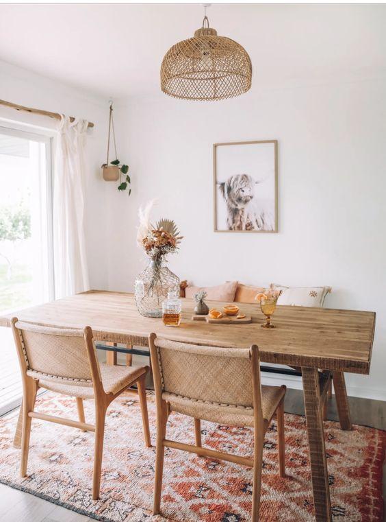 Cozy Dining Room Ideas: Stylish Boho Farmhouse