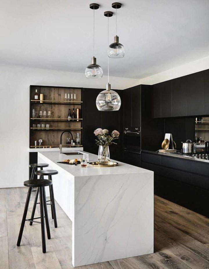 Dark Kitchen Ideas: Sleek Black Cabinets