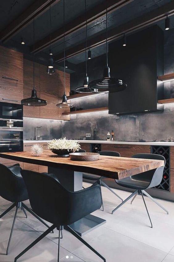 Dark Kitchen Ideas: Modern Industrial Look