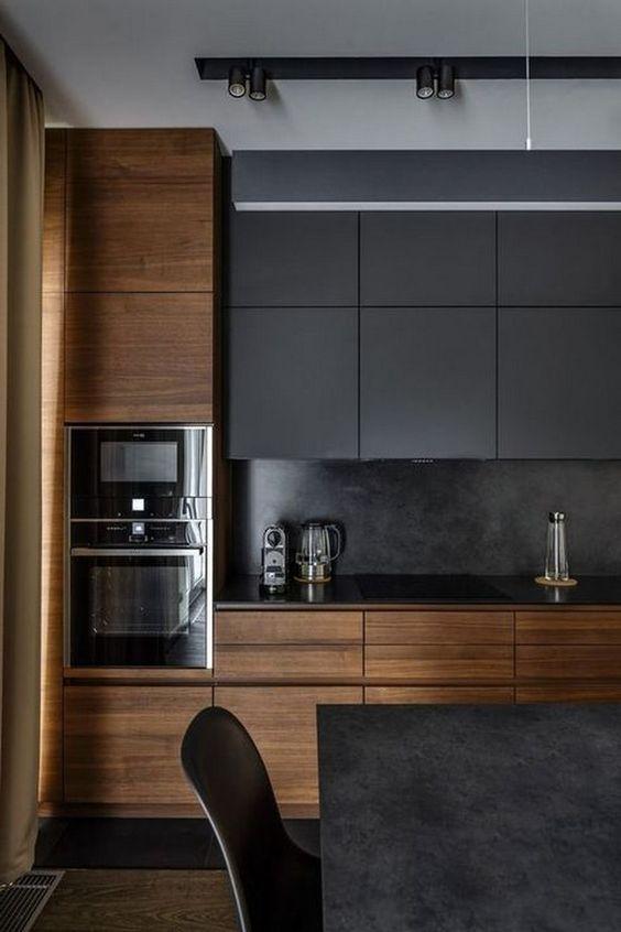 Dark Kitchen Ideas: Modern Rustic Concept