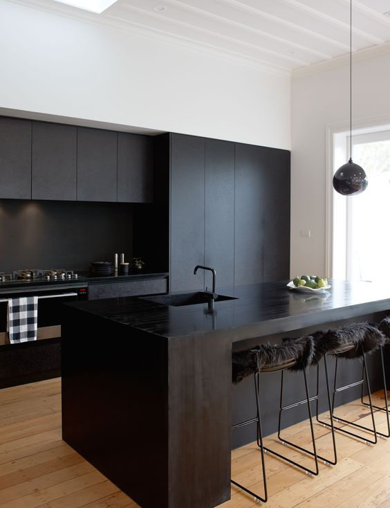 Dark Kitchen Ideas: Bold Black Domination