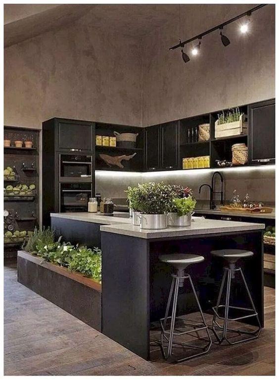 Dark Kitchen Ideas: Fresh Rustic Nuance