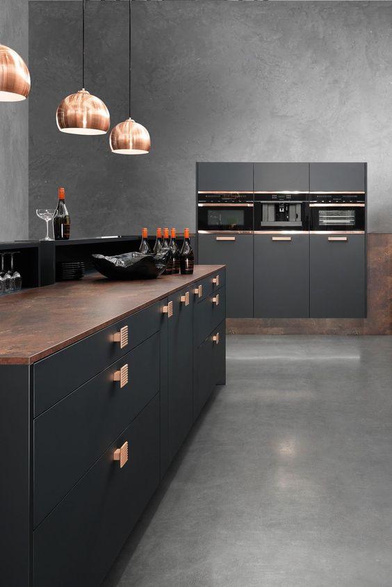 Dark Kitchen Ideas: Stylish Industrial Vibe