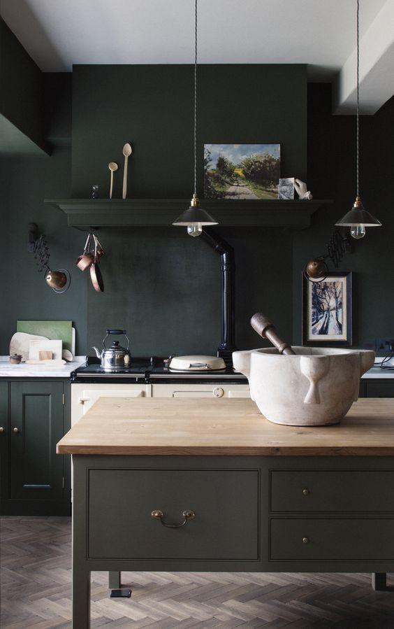 Dark Kitchen Ideas: Modern Dark Kitchen