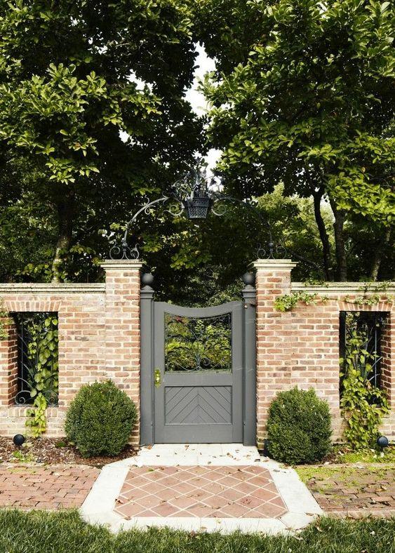 Fence Ideas: Exposed Brick Fence