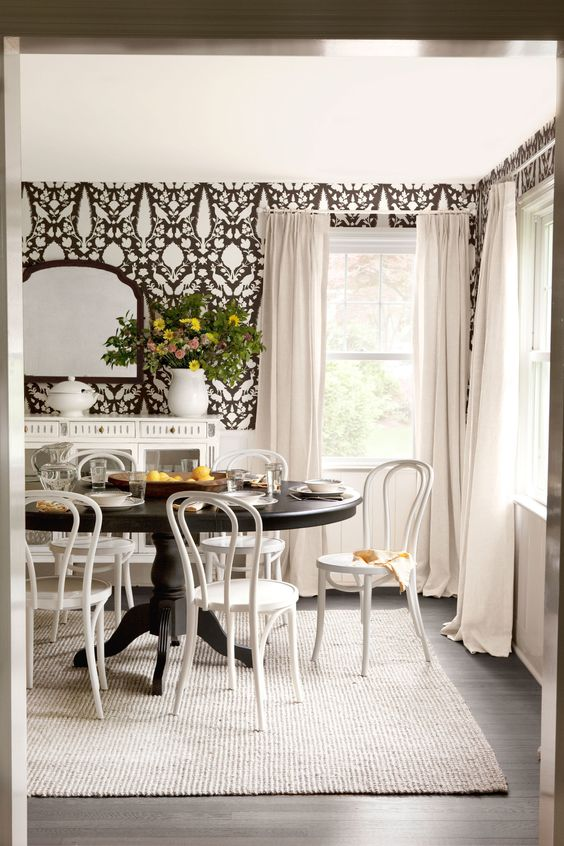 Formal Dining Room Ideas: Chic All-White