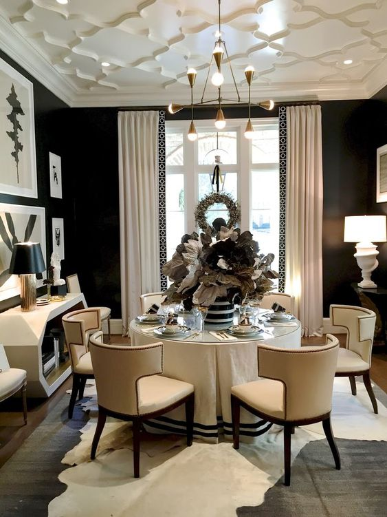 Formal Dining Room Ideas: Calm Earthy Atmosphere